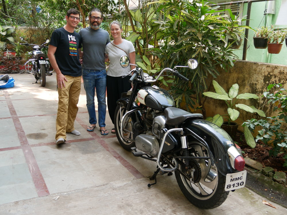 And with his beautiful motorbike!