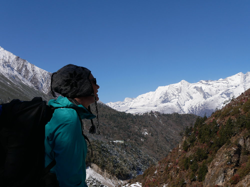 We didn't take any photos on our rest day, so here's a photo of our snow day between Tengboche and Pheriche