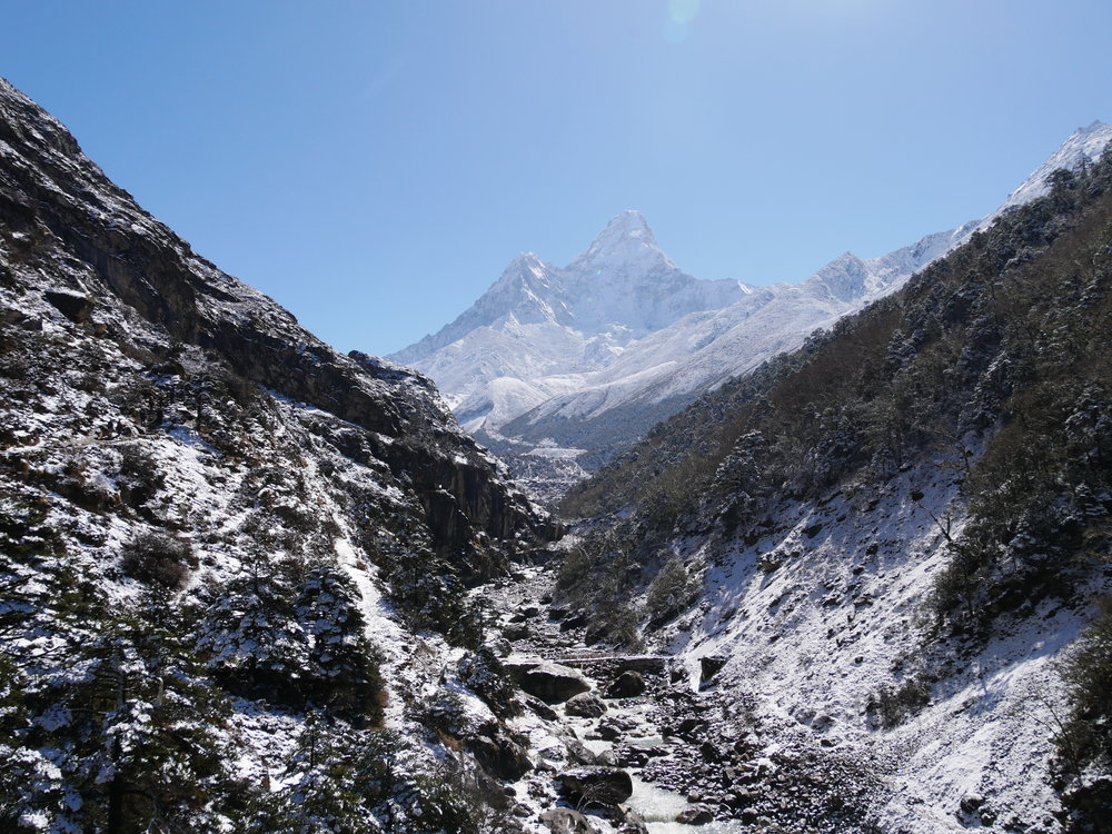 Another shot of our snowy walk from Tengboche to Pheriche