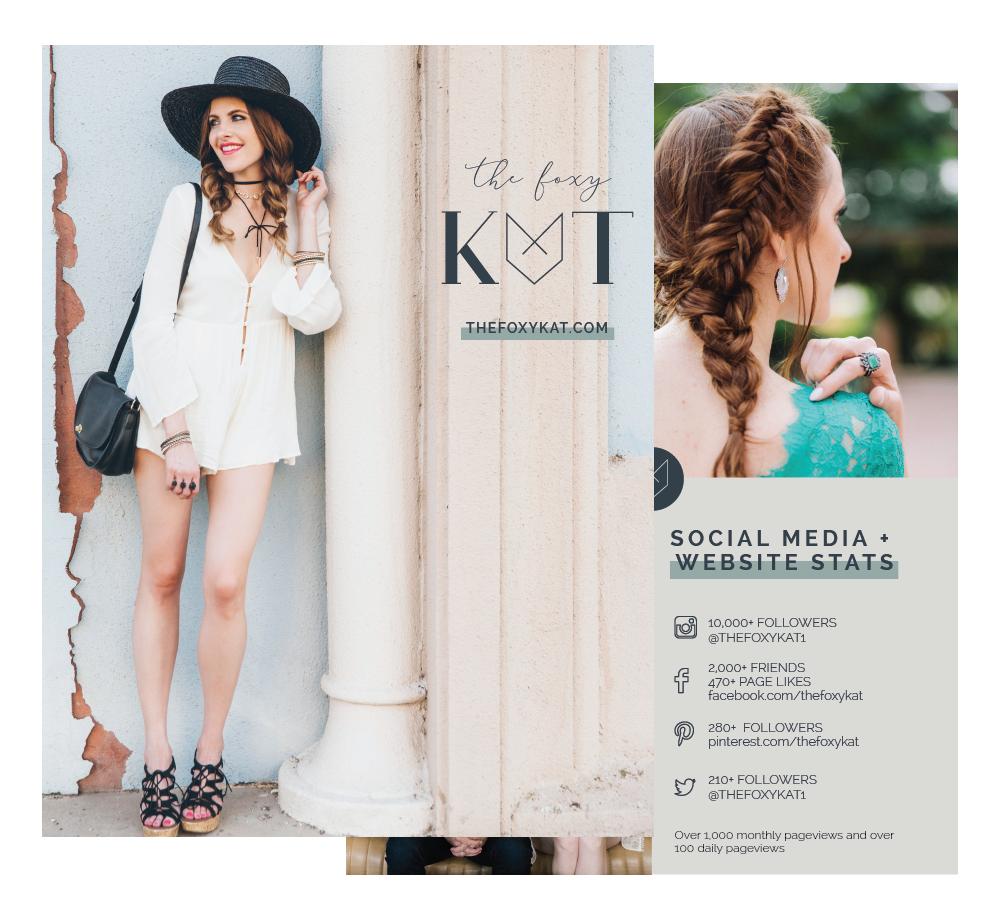 Media Kit Design for Style Blogger