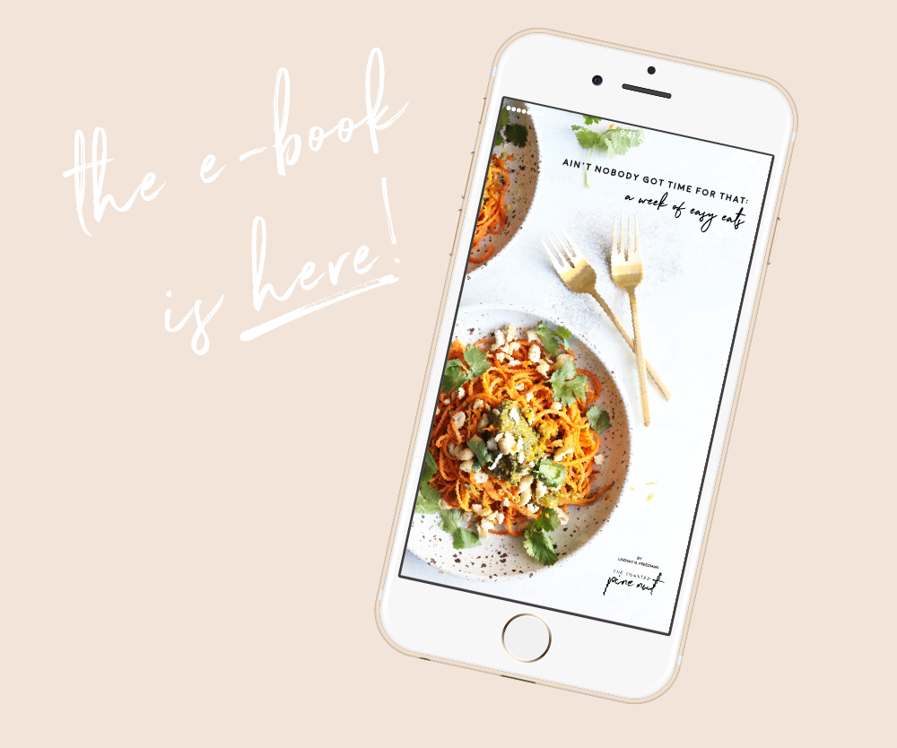 E-Book Design for The Toasted Pine Nut - Food Blogger E-Book Design