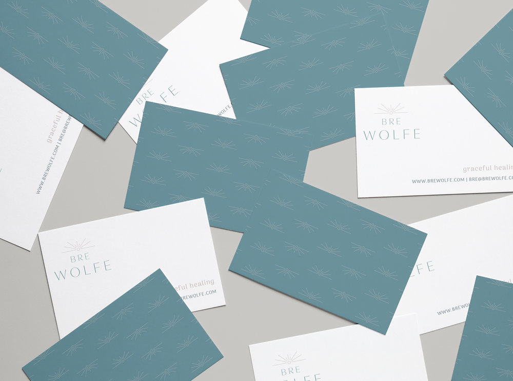 Business Card Design for Yoga Brand - Business Cards for Holistic Yoga Instructor
