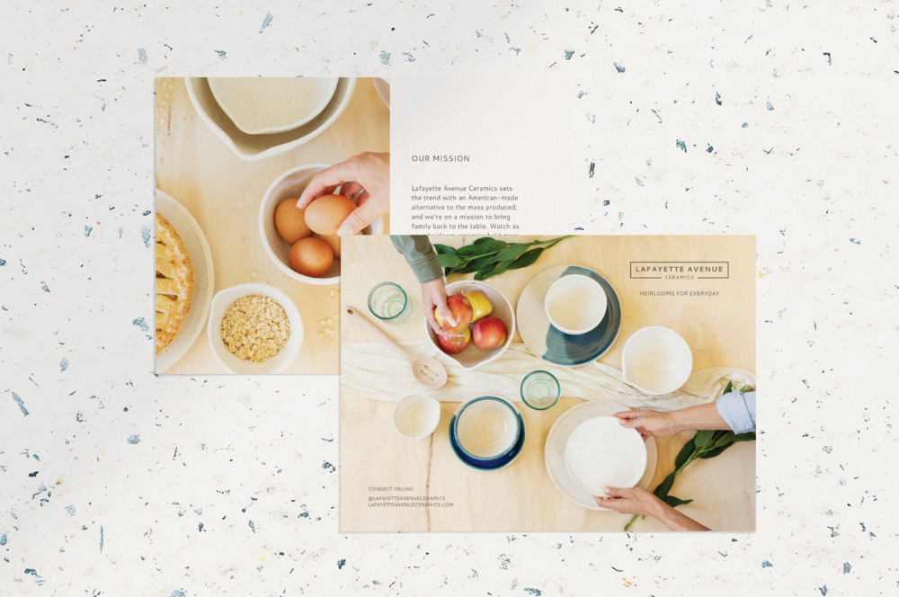 Collateral Design for Small Business Owners - Ceramics Collateral Design - Artisan Collateral Design