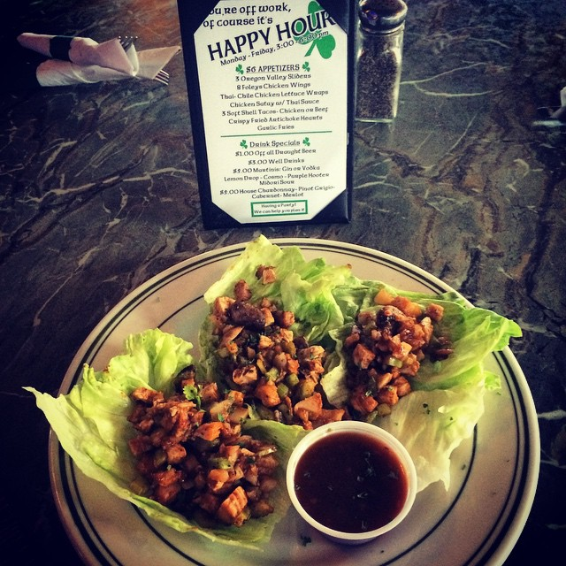 Our chicken lettuce wraps are yummy! Come check out our #HappyHour specials or visit our new website!