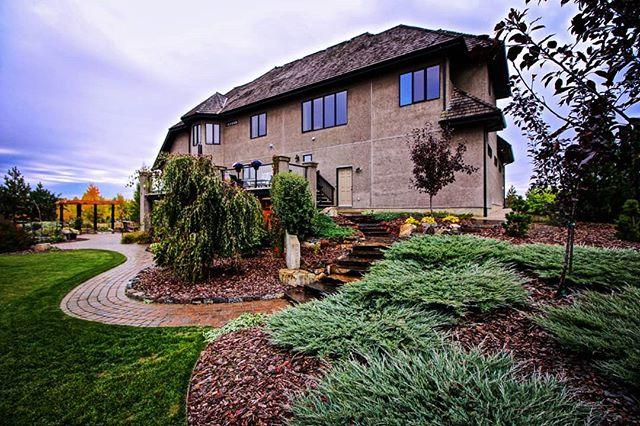Beautiful Landscapes get Better with Age.  #yeglandscaping #jadelandscaping #yeglandscaper #yegdesign #yeg  #yegcustom #stalbert #riverstoneestate #hardscaping #pavingstones #estate #junipers #landscapedesign #landscapearchitecture  #landscapearchitecture