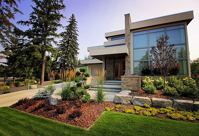 We really enjoyed working on this project. A beautiful home with nice big lot in Belgravia on which we were pleased to have the chance to put our mark. Features included, a 6' wide custom stone faced water wall, natural stone raised planters, @techobloc paving throughout, a 200' cast concrete grade wall, several hundred plantings, irrigation and @inlitedesign landscape lighting to finish it off. The result speaks for itself.  #jadelandscaping #yeglandscaping #yegdesign #yegphotography #yeglandscaper #yeglocal #yegcustom #yeginfill #yegconstruction #yeglighting #hardscaping #softscaping #retainingwall #waterwall #landscapedesign #landscapearchitecture #in-lite #landscapelighting #naturalstone #gardenbeds #patio #pavingstone