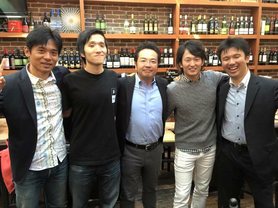 左からSPLYZA土井さん、僕太陽、フォトクリエイト大澤さん、ラントリップ大森さん、Link Sports小泉さん