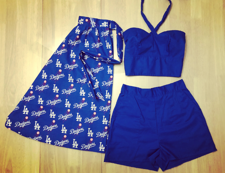 9b75f4dd31f57 Made to Order Dodgers Playsuit — VintageGal