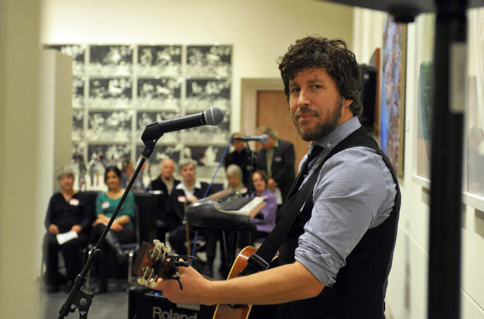 "Adam Woodall performs at the ""Tribute to the Arts"" gala evening."