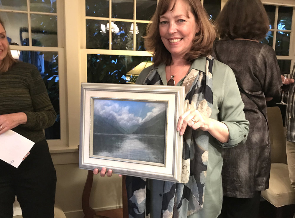 Pastel by Kathleen Marioni goes to an appreciative guest