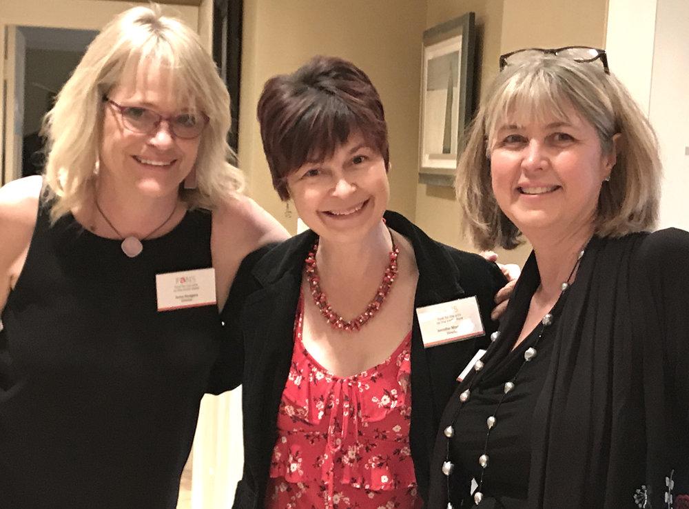 FANS board members: Anne Rodgers, Jennifer Morabito and Lori Phillips.