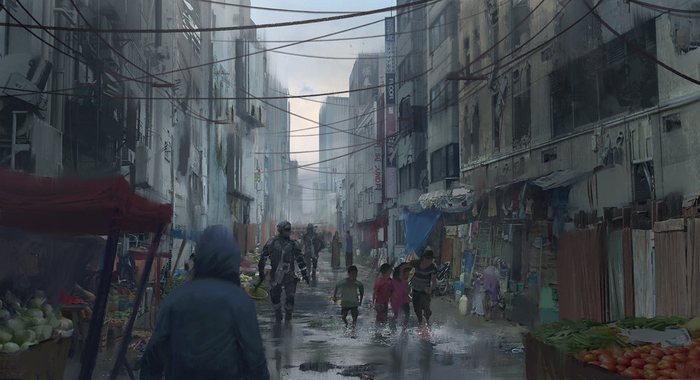 City Slum Street