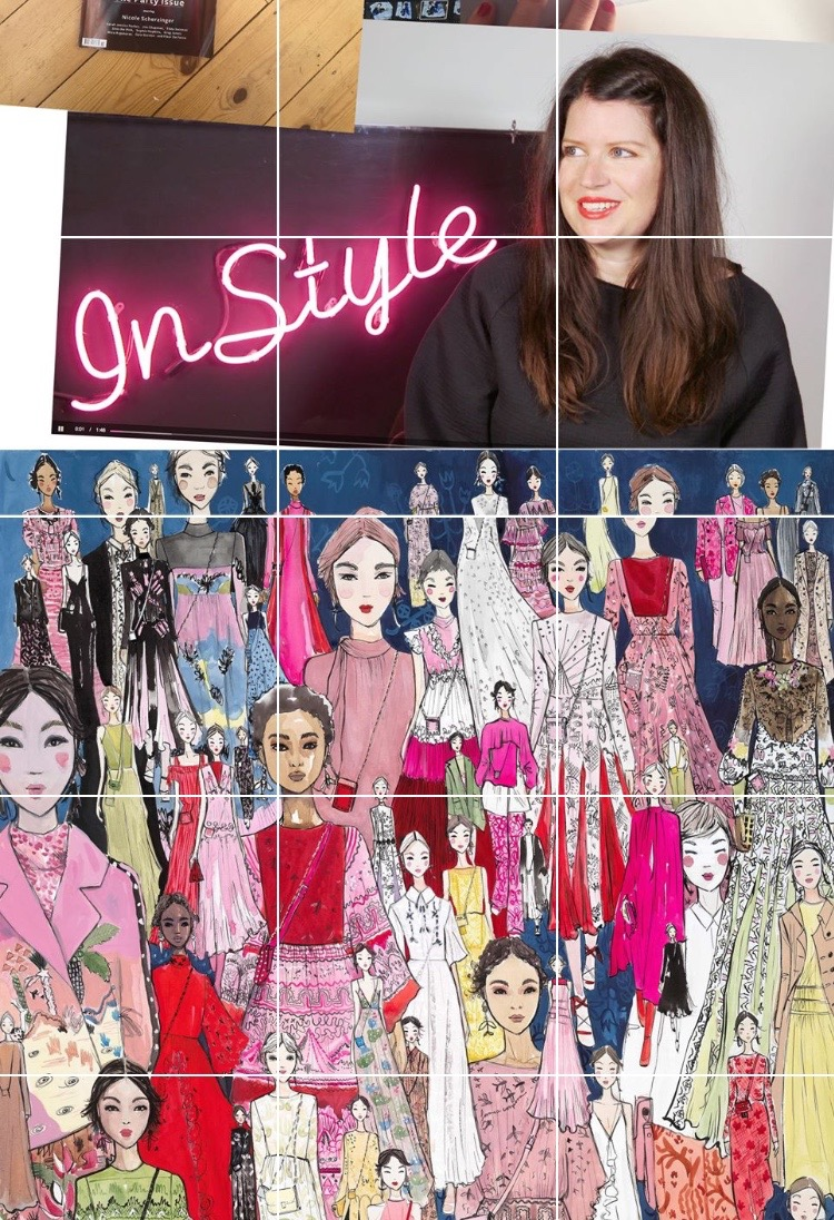 Featuring InStyle interview and Valentino illustration on my Instagram Collage.