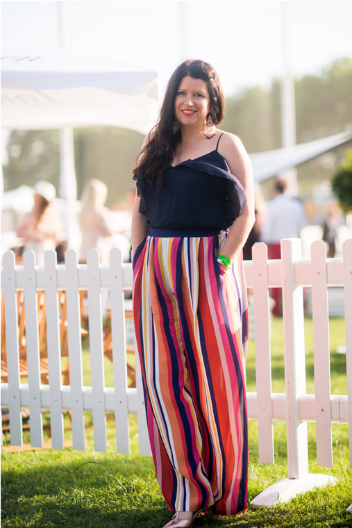 Trousers from Anthropologie. Photo take at Polo in the Park by  Alex Treadway