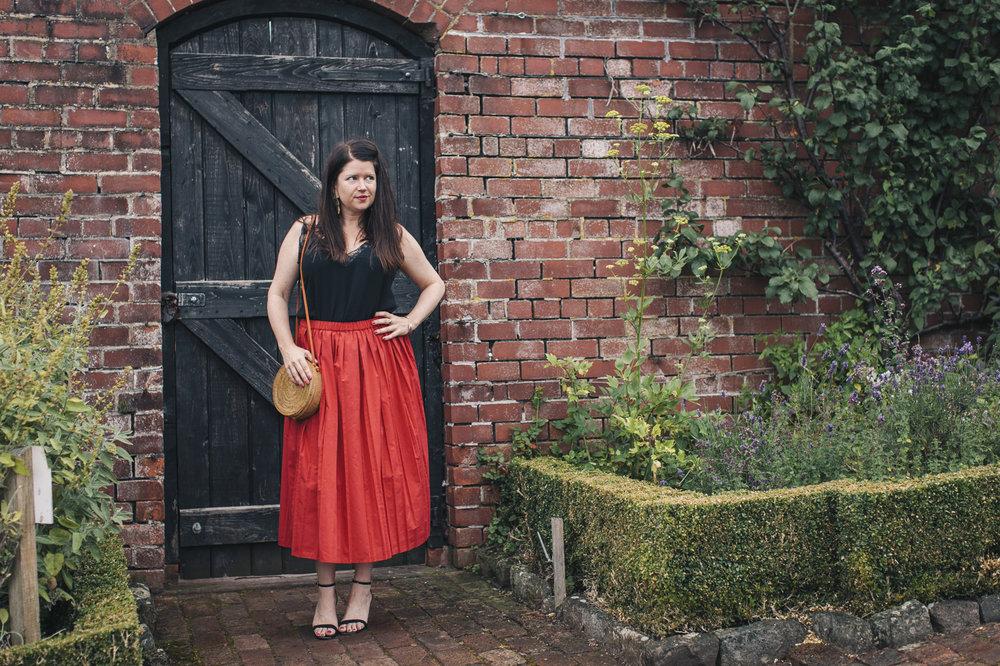red-midi-skirt-asos