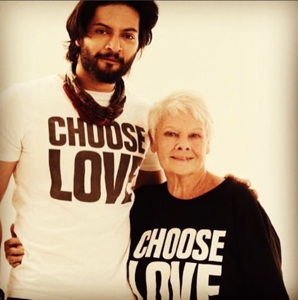 I've got the same T-shirt as Judi Dench so it's just a matter of time before he has his arm around me.