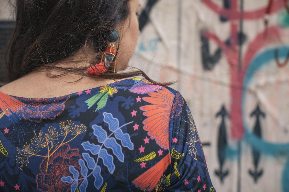 Dress from Onjenu, earrings from Mango