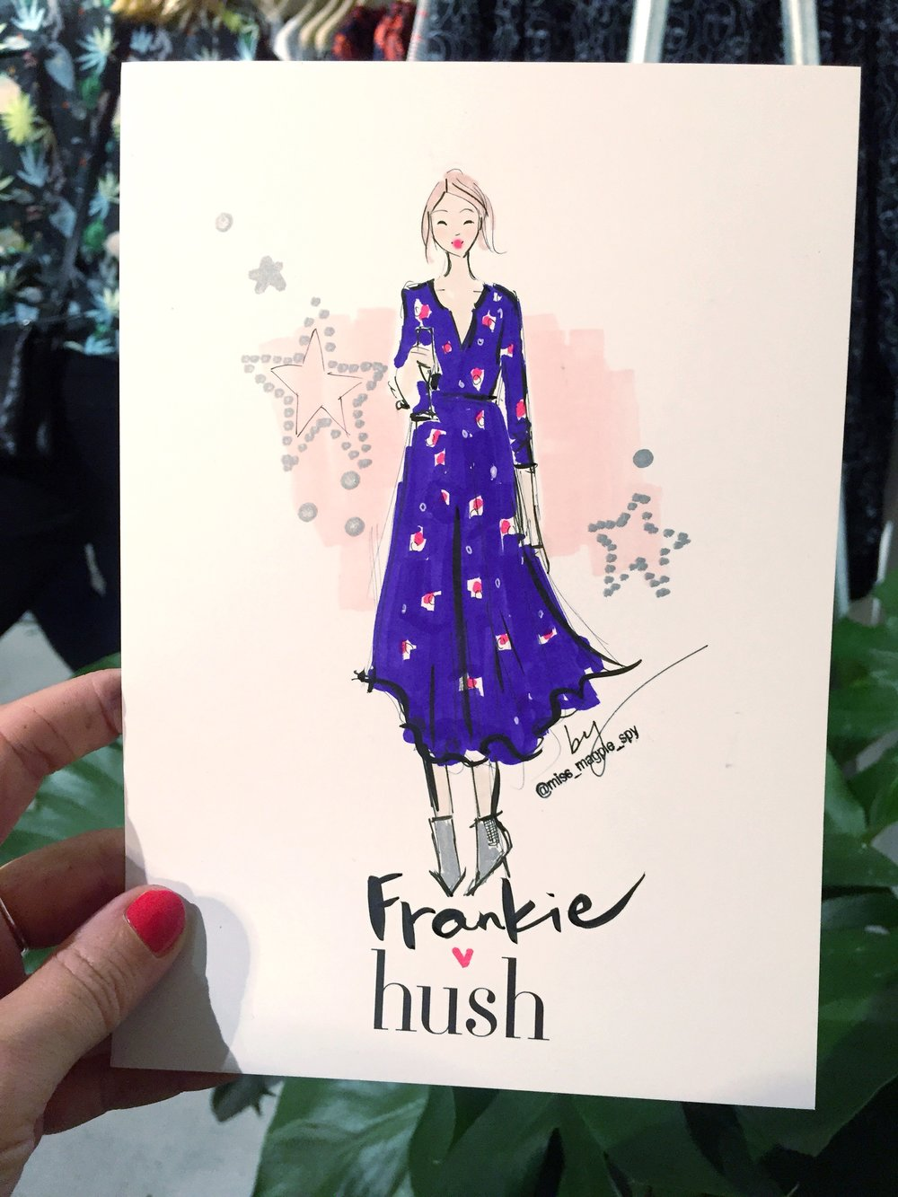 One of my illustrations from the event featuring another gorgeous dress that's sure to sell out!