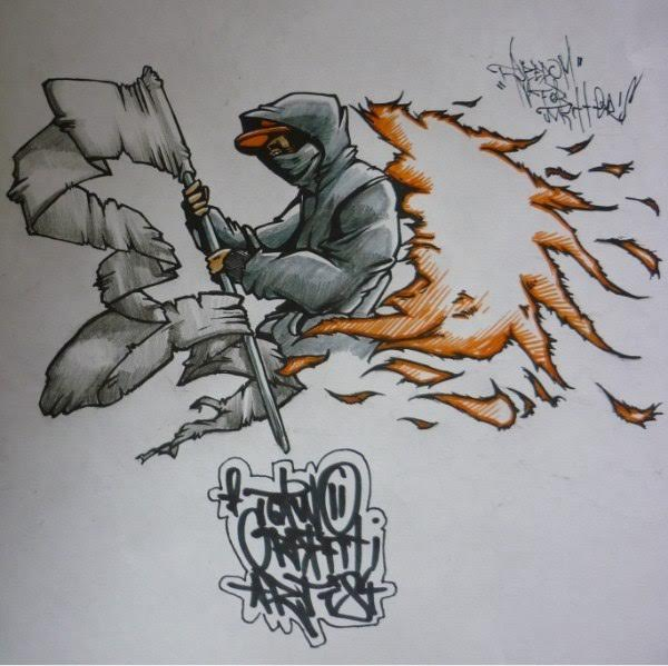 FResist - 2009 Sketch i made being inspirate by cd cover Hybrid Theory - Linkin Park album