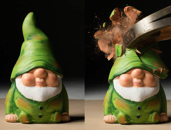 This gnome's fate represents our attitude towards recruitment agencies. Could we be clearer?