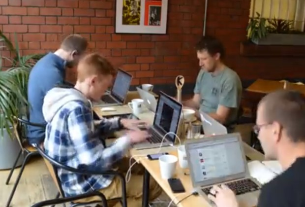 Team Triggertrap in action at the Triggertrap hackathon.
