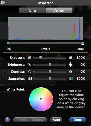 Adjust white balance