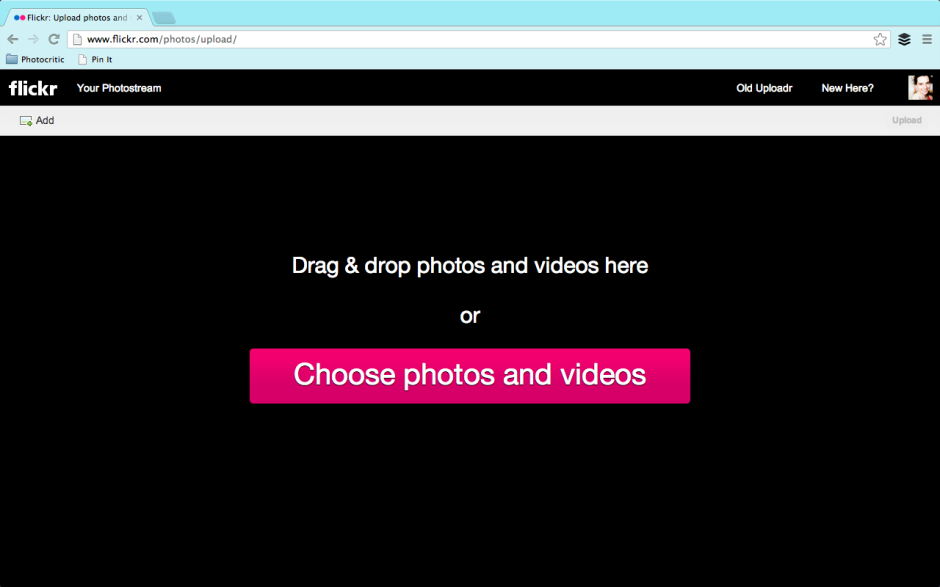 Drag-and-drop to upload to Flickr