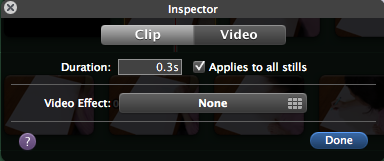I opted for 0.3, but you could go for shrorter videos at 0.2 or 0.1