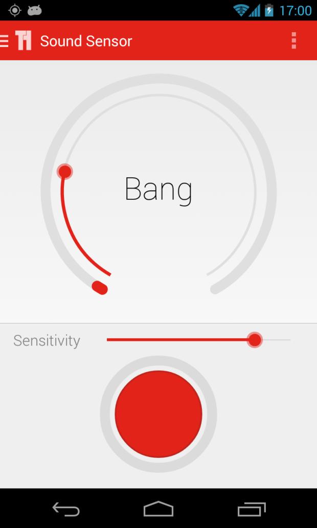 The Triggertrap sound sensor mode.