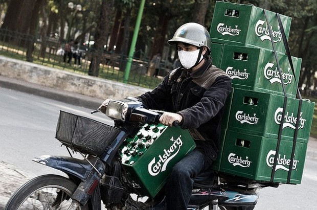 A successful applicant to our Ops Champion job should be able to transport 10 crates of beer on a hilariously small motorbike. Ok, not really.