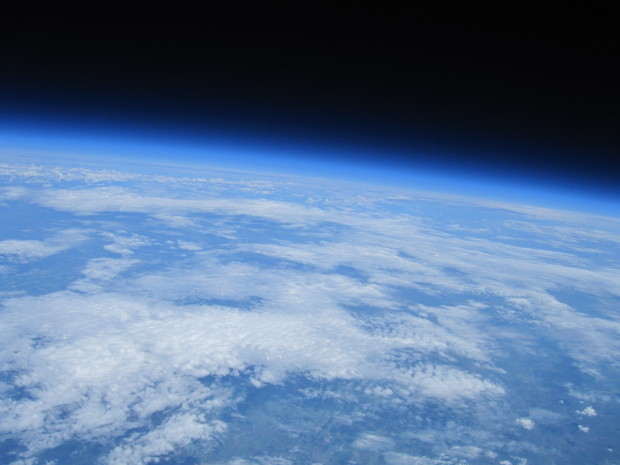 Observatory high-altitude balloon image from the edge of space.