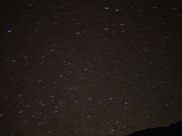 A preliminary star trails attempt.