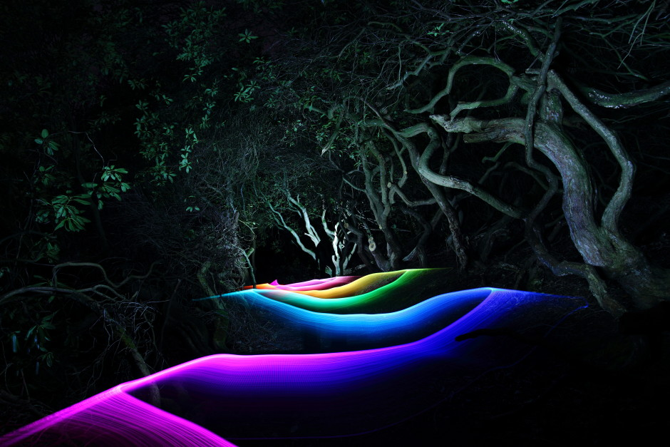 Tim Gamble takes light painting to the next level in this awesome shot!