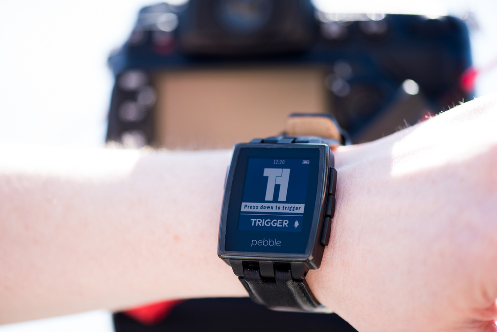 Trigger your camera from your Pebble smartwatch with Triggertrap.