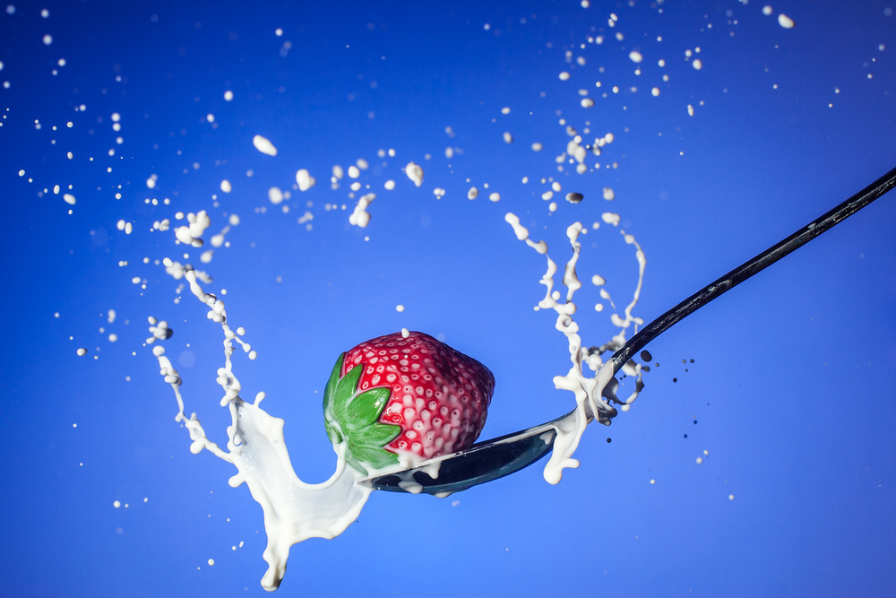 Strawberry Cream Milk by Chris Martino