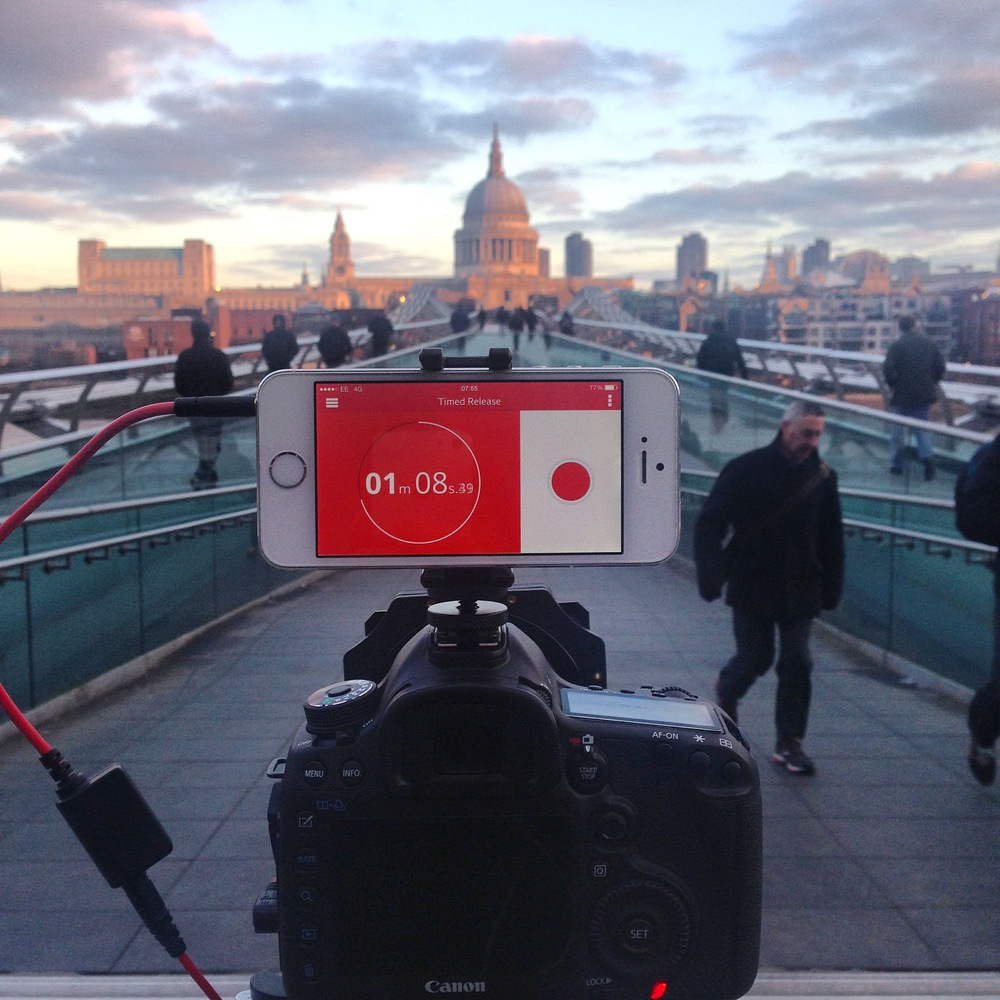 Behind the camera on a long exposure shoot of St Paul's Cathedral