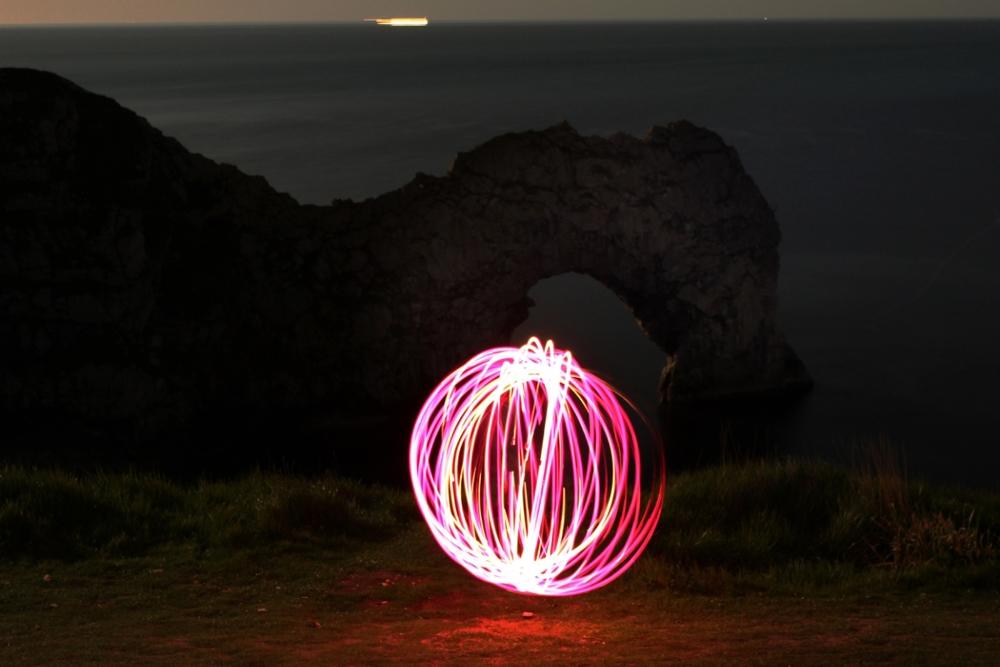 A slightly scruffylight orb, taken with the camera set to bulb.