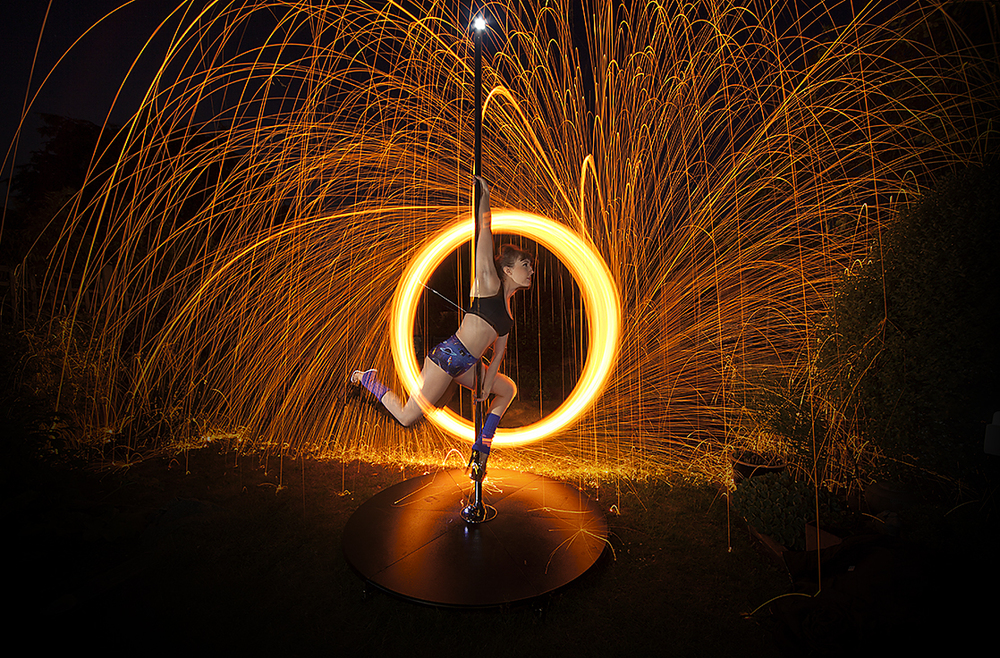 Wire wool spinning shot taken by Simon Ball using Triggertrap Mobile.
