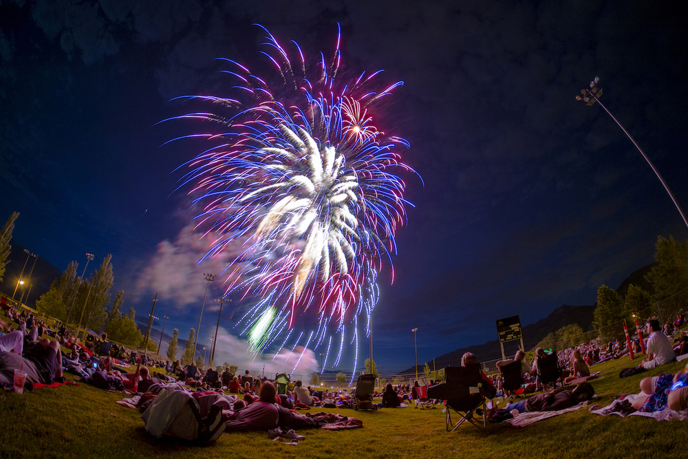 Brandon Price has nailed this fireworks shot by adding an interesting foreground and using a wide angled lens.