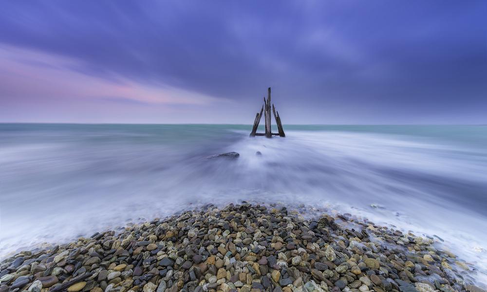 Long exposure sea scape by Marco van Dijk, taken using Triggertrap Mobile.