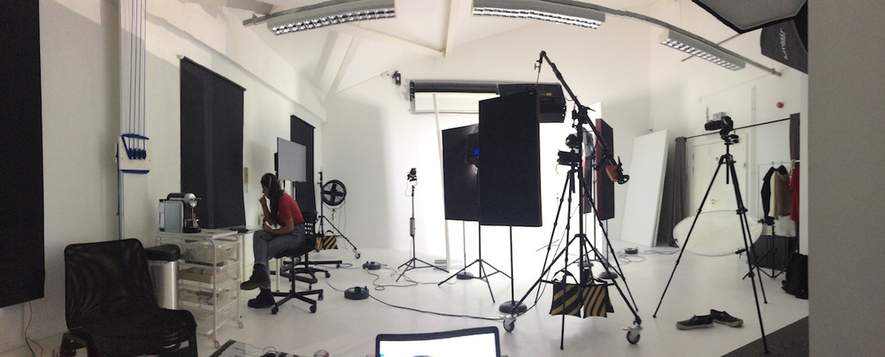 Panorama of West London Studio.