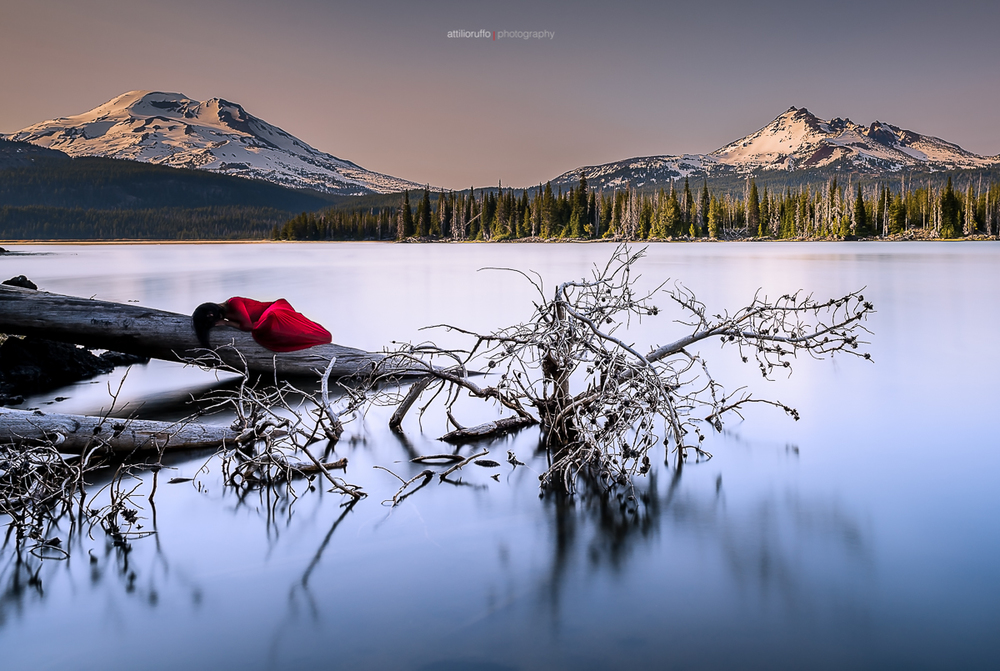 Lady in Red, Sparks Lake.jpg