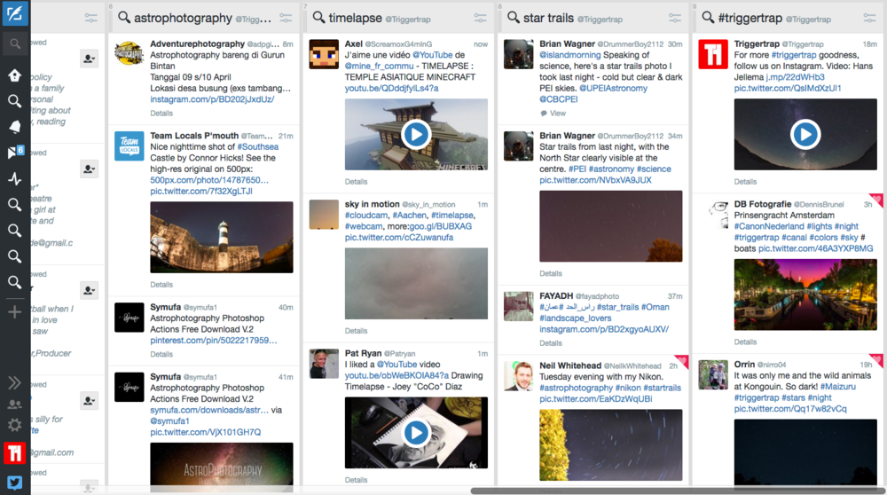 Tweetdeck allows you to keep tabs on certain hashtags, too