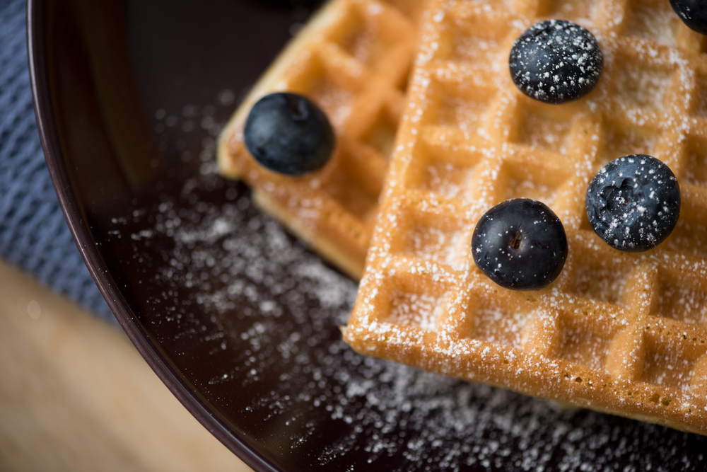 Mmm. Waffles. This shot was taken using only the light from the window!