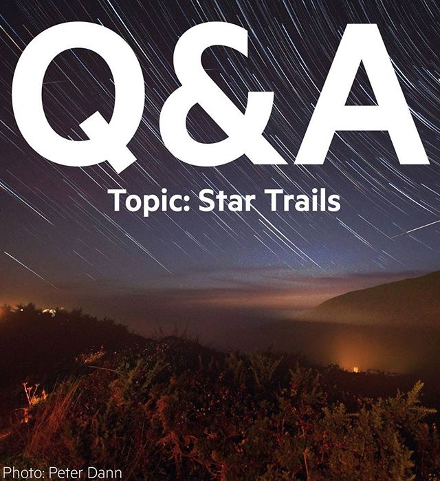 Welcome to our monthly #photography Q&A! Ask us general photography questions, or get involved with the theme. This month we're talking #startrails. So, what do you want to know? Comment on this #photo to get involved!
