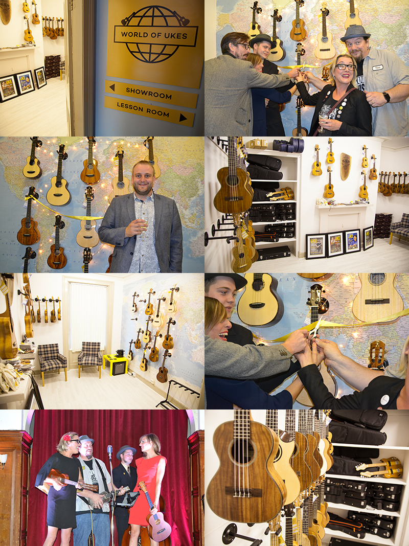 A selection of pictures from the World of Ukes ukulele store launch party!