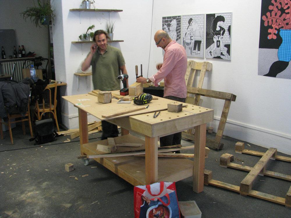 Ons atelier tijdens Bouture Fest in maart. Dikke merci aan de vrijwilligers die dit organiseerden!