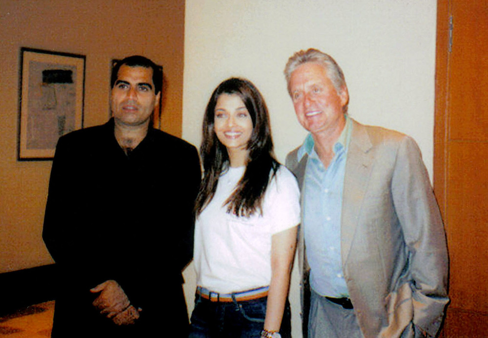 with Aishwarya Rai and Michael Douglas