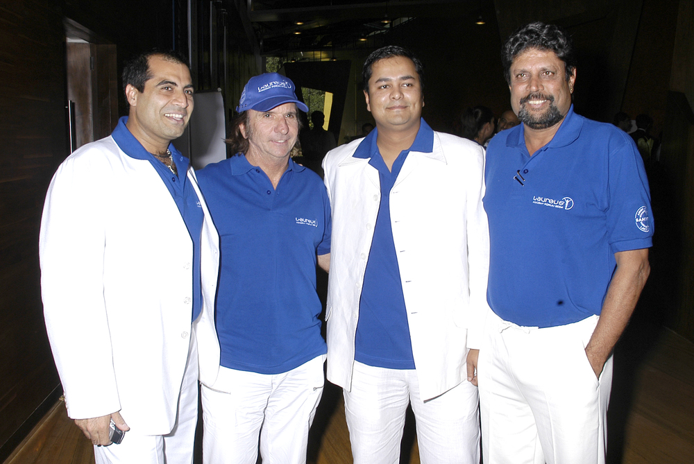 Emerson Fittipaldi, Seemanto Roy, Kapil Dev