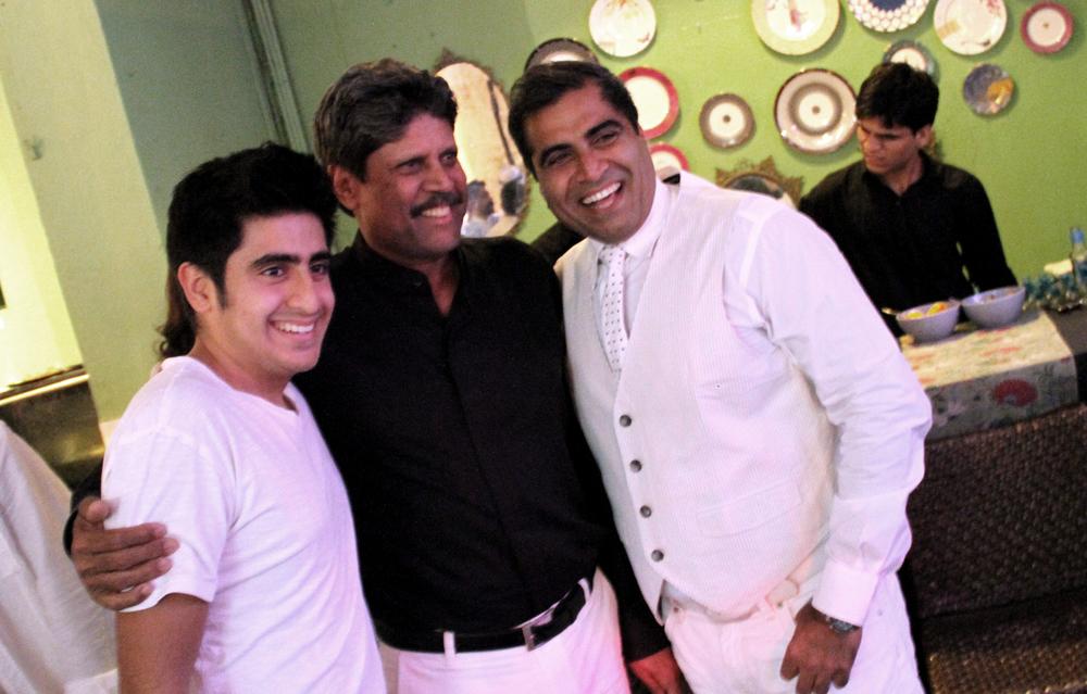 with SHAAN & Kapil Dev